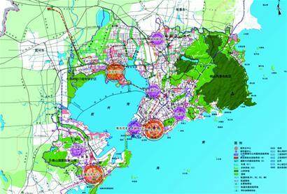 依托以胶州湾为核心的生态安全格局,均衡布局公共服务设施,推动东岸图片