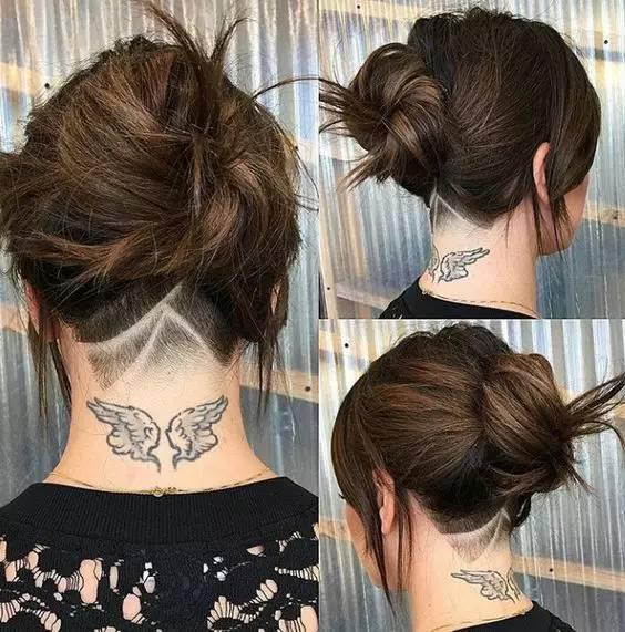 最新爆红的女生undercut发型图片