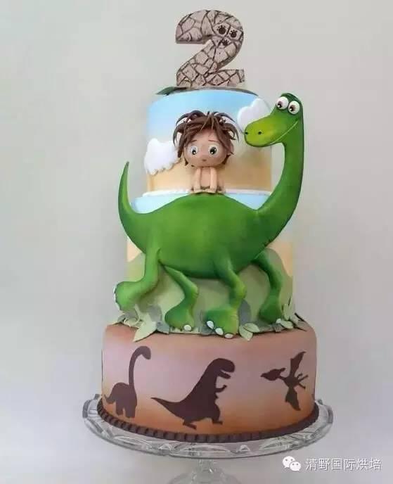 卡通恐龙蛋糕插牌