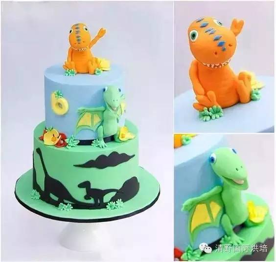蛋糕盘手工制作恐龙