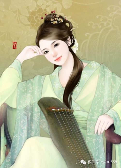 古装帝王女手绘