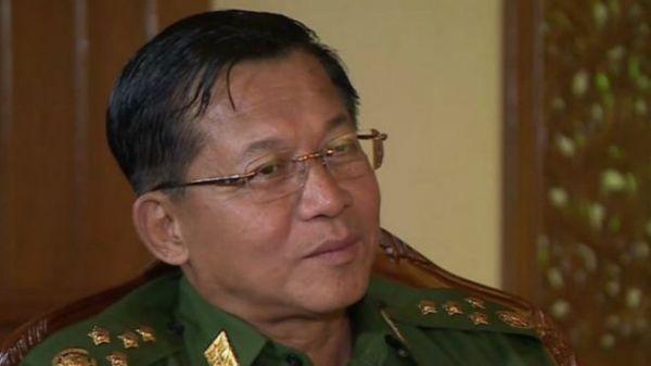 缅甸军总司令敏昂莱罕见地接受BBC记者乔纳.费希尔专访。