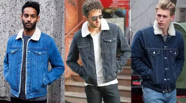 搭配棒针圆领毛衣或者针织衫和休闲牛仔裤,即可展现完美英式街头风.