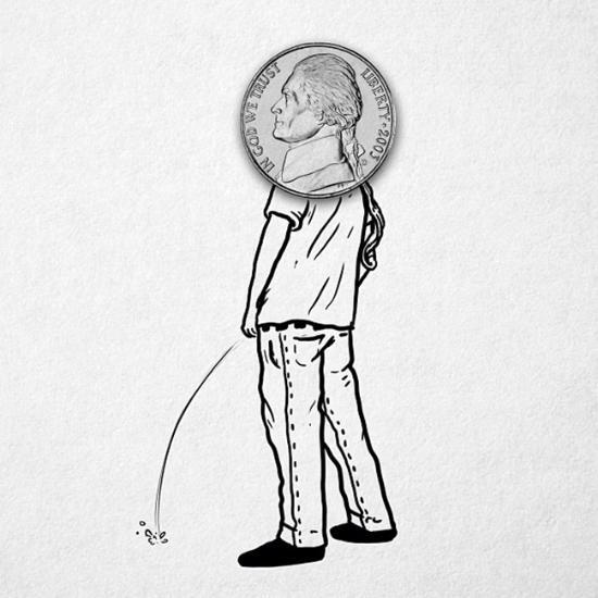 与现实交互的创意插画(组图)