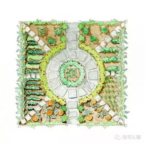 园子平面图手绘