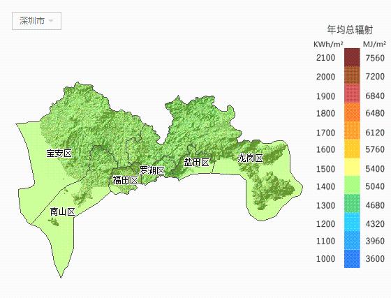 【必备】广东省各市太阳能资源分布地图集锦图片