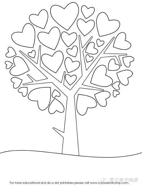 幼儿简笔画爱心树
