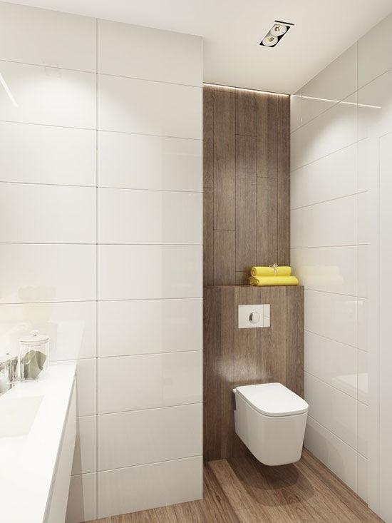 少量的黄色浴室用品点缀为卫浴空间带来了更有活力的气息.