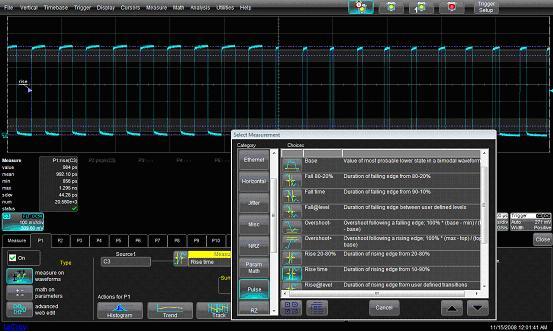 示波器界面_图二是t公司设置tie参数的界面,我们在第四代示波器系列述评中曾介绍