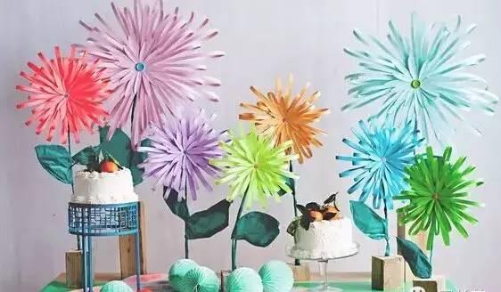 各种不同风格的手工花朵都在这里喽~ 哇,花朵墙!瞬间变得不一样了.