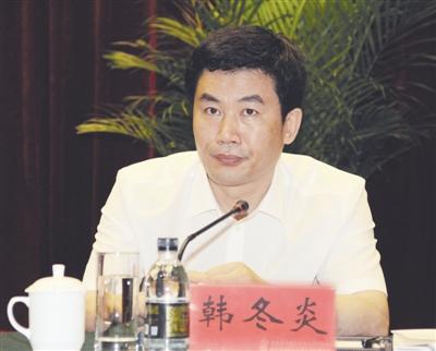 资料图:黑龙江省人民政府国有资产监督管理委员会主任、党委副书记韩冬炎。
