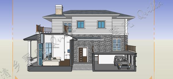 清墅农村自建房 欧式层次分明 3D直观