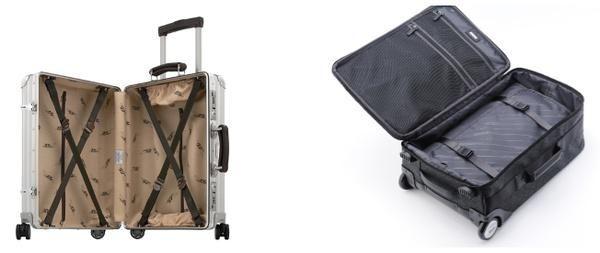 此外,行李箱合理的内部结构和各种细节也很重要,丰富的隔层和内裆可以