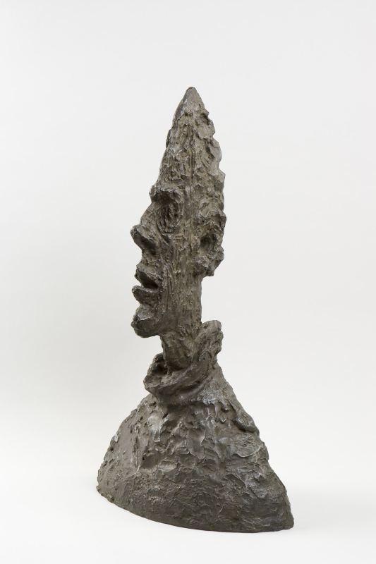 高瘦头像,1954,铜