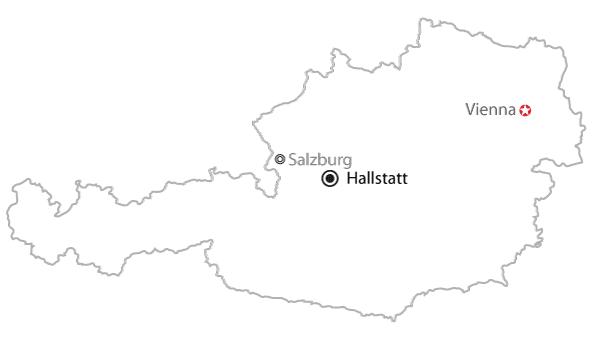 哈尔施塔特在奥地利的位置