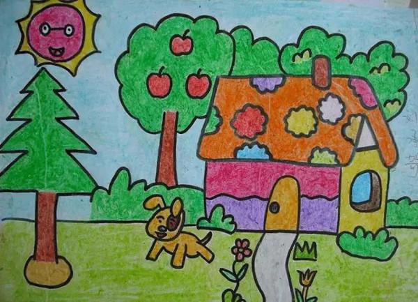 6,绘画过程锻炼孩子的种种能力图片