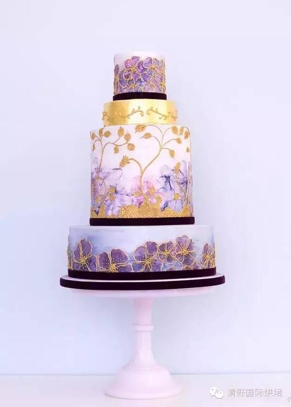 翻糖蛋糕图片,2016最具创意的15款婚礼蛋糕!