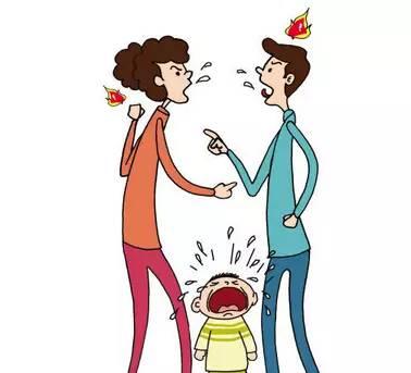 小朋友吵架卡通
