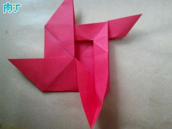 玫瑰花的折法大全之风车玫瑰折纸教程(组图)