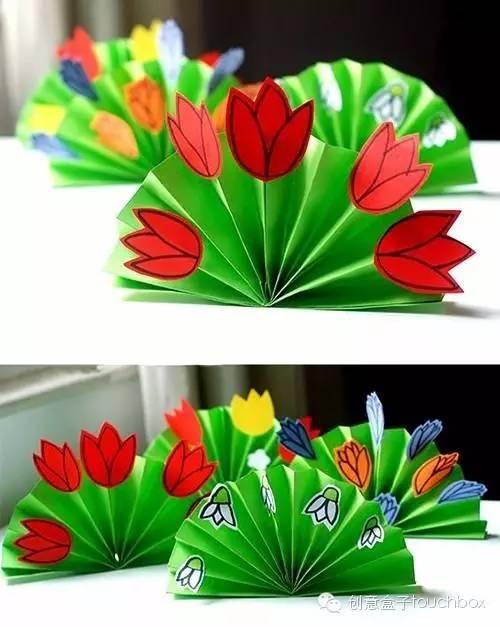 粘贴画春天的花