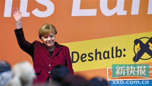 当地时间12日,德国总理安格拉・默克尔出席政党选举造势活动。CFP供图