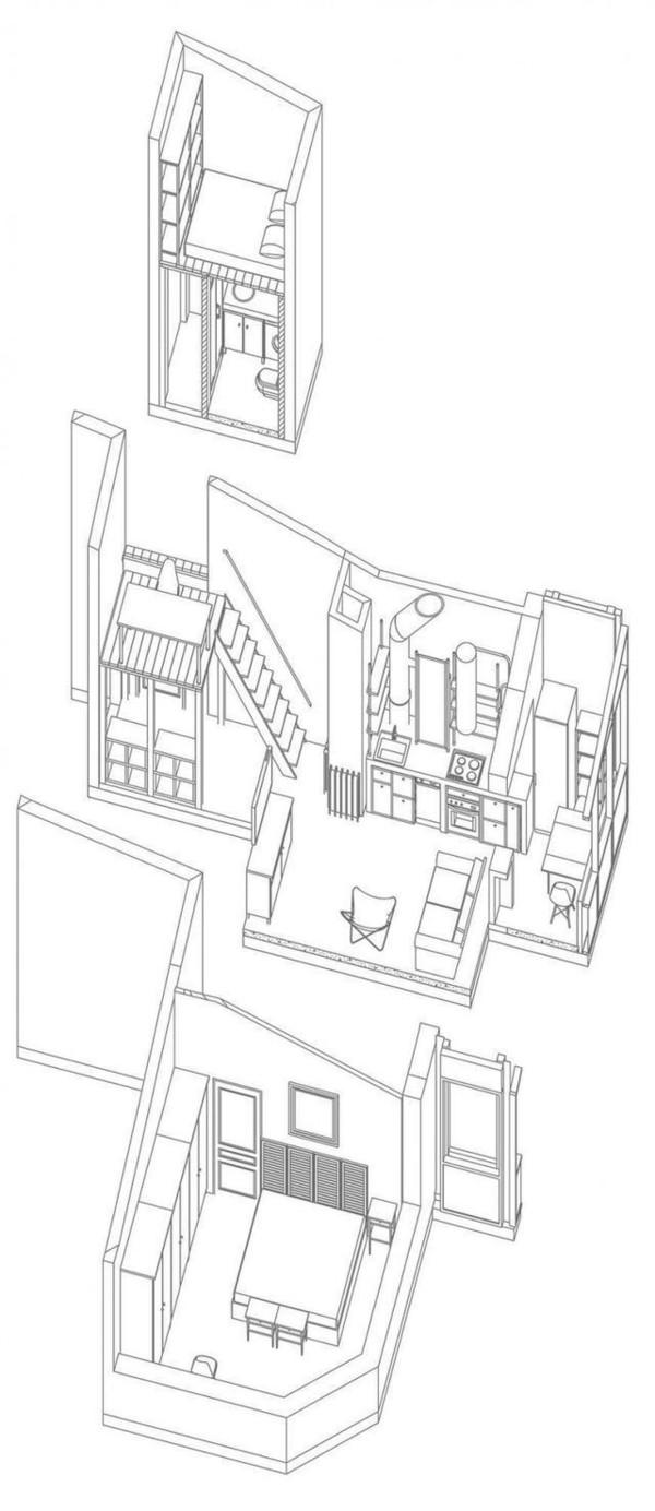 户型 户型图 简笔画 平面图 手绘 线稿 600_1384 竖版 竖屏