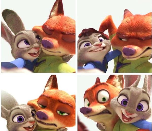 当然,更离不开虐狗,狐狸nick和兔子judy这对cp,就这样成了开年以来最图片