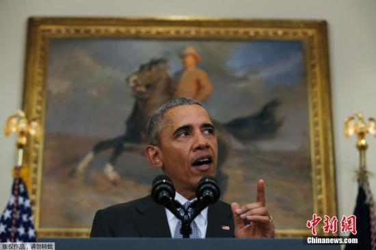 资料图:当地时间2月23日,美国总统奥巴马在华盛顿就关塔那摩监狱去留问题发表一份声明,表示关塔那摩监狱背离美国利益与价值,是时候将其关闭。