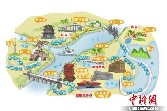2016武汉马拉松线路敲定 穿江过湖跨三镇风景好 图