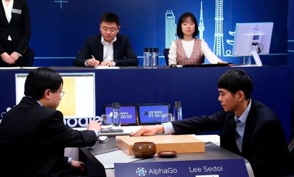 2016年3月15日,韩国首尔,2016围棋人机大战第5盘赛况。 视觉国家 图