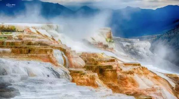下雪了简笔画彩色背景图
