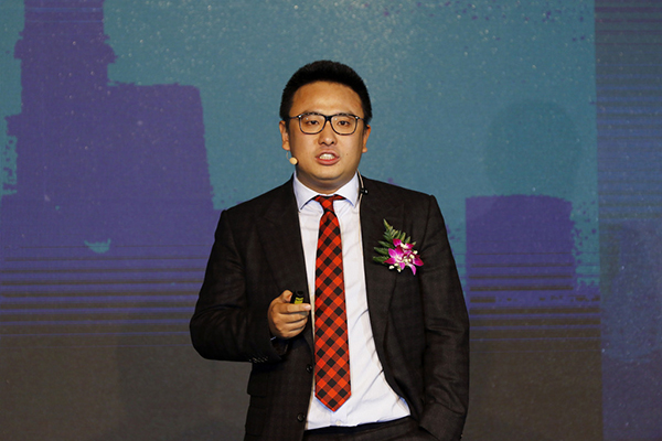"""""""饿了么""""开创人兼CEO张旭豪。 磅礴新闻记者 赵昀 材料"""