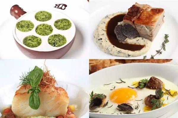 餐厅里的部分菜品是由米其林星级厨师特制的.图片
