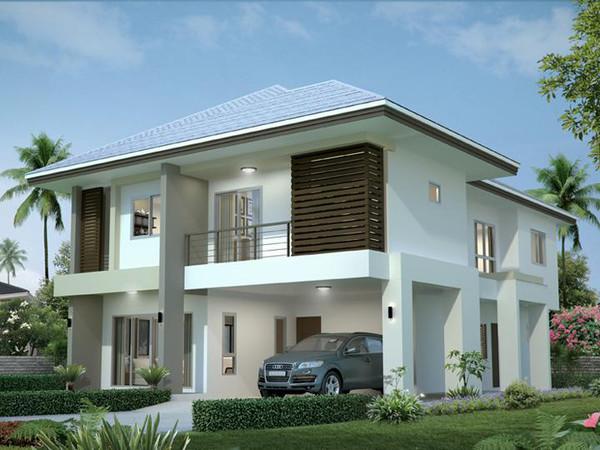 带小院子的房子设计图展示
