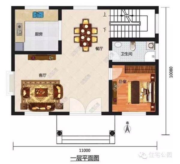 套北方农村自建房户型 含平面图-户型4