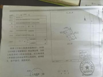 陈秀芳2015年办下来的国土证。