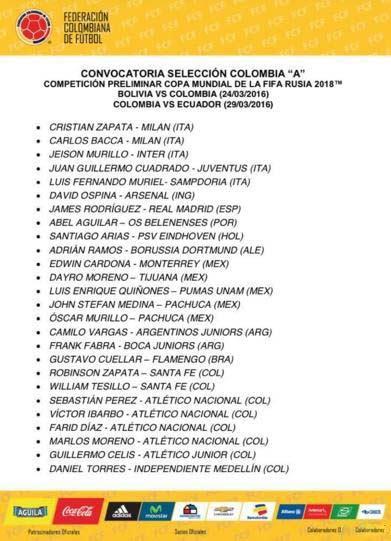 哥伦比亚名单