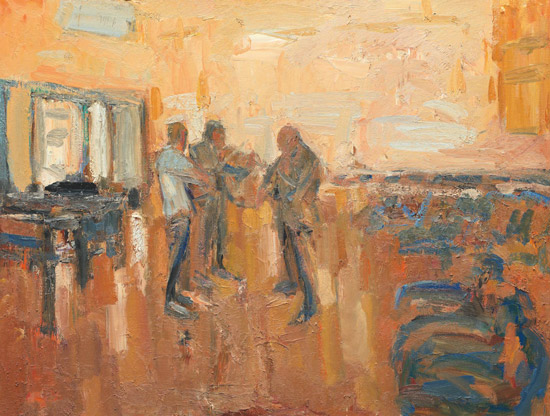 石煜《重奏》100x120cm布面油画2015