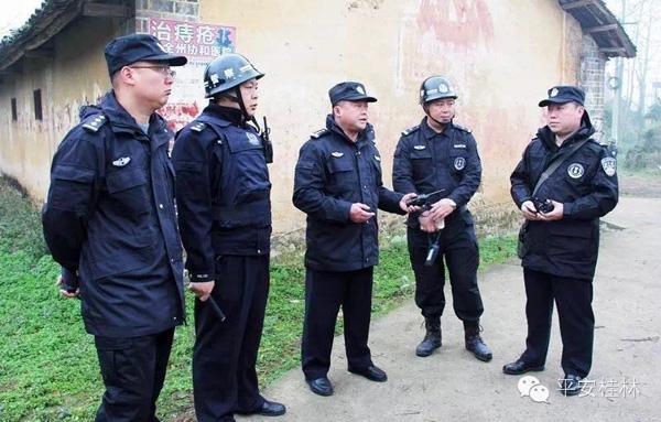 广西全州县打黑:警察持枪拿盾牌列队进村(图)