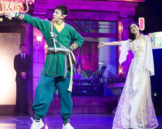 贾乃亮谢娜同台斗舞