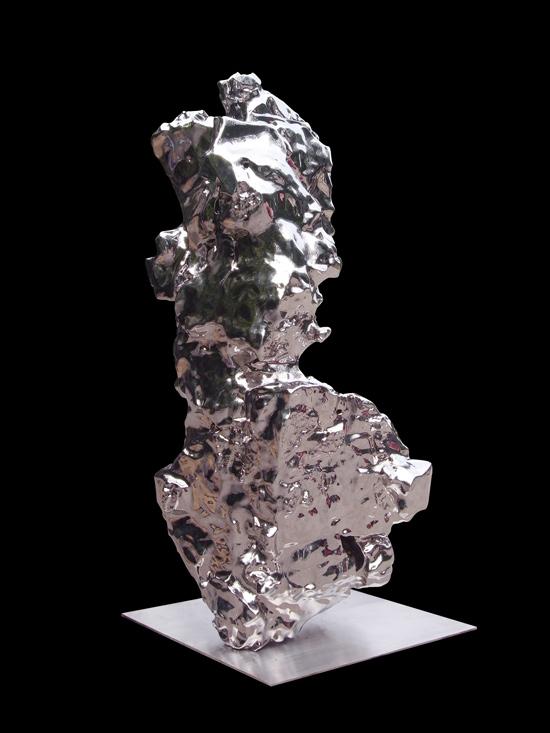 假山石124#,展望,不锈钢,264×95×85cm,2007-2014