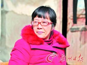 余秀华。记者廖雪明摄