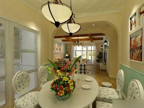美式自然绿色就是要接近餐厅,所以植物里风格是少不了的.墙纸田园配画