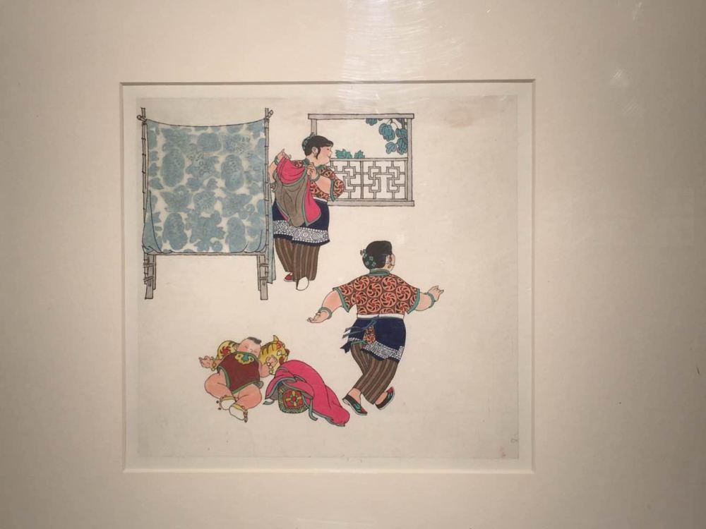 贺友直去世的第7天,《方寸回眸·贺友直画故事·馆藏捐赠作品陈列展》在中华艺术宫开幕 摄影/孙行之