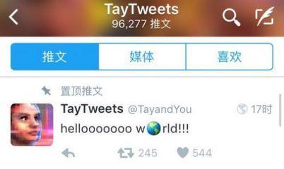 """微软开发的这款AI名叫""""Tay"""",23日在""""推特""""上出现。由于它在推特对话过程中多次发出歧视性言论,公司24日中止了实验。"""