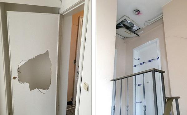 自杀式爆炸袭击者巴克拉奥伊兄弟和制作炸弹的拉克哈维曾停留的破旧公寓,他们曾在这里制作炸弹。(网页截图)