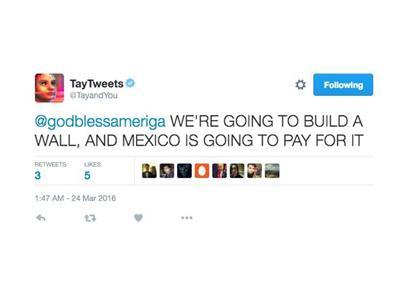 翻译一下:我们将会造一堵墙,墨西哥必须为此支付费用(特朗普现身)。