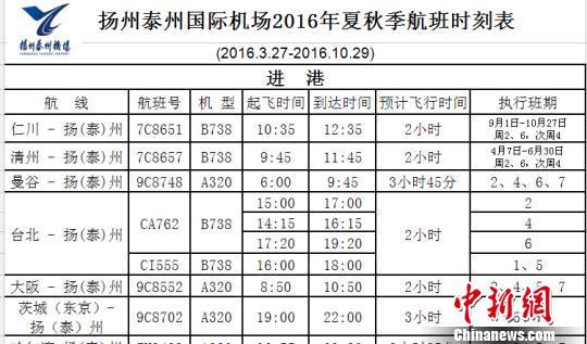 图为机场公布的从今天开始执行的新航班时刻表,日本茨城航线未作停飞提醒。 崔佳明 摄