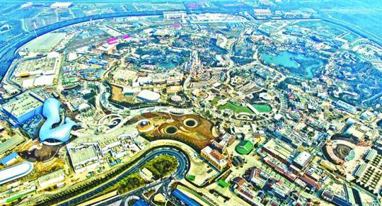 这是3月27日航拍的上海迪士尼乐园。 /新华社
