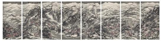 崔如琢,葳蕤雪意江南,295×1152cm,2013